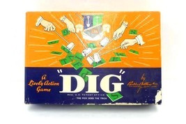"Vintage Parker Brothers 1940's Lively Action Game ""Dig"" In Original Box - $13.17"