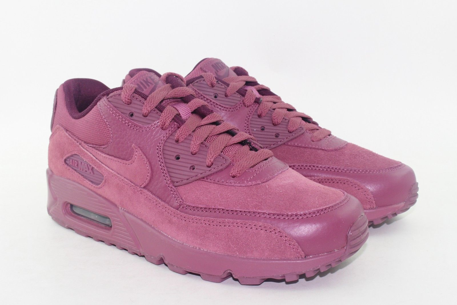 low priced 53fdc 309ed ... NIKE AIR MAX 90 PREMIUM MEN SIZE 7.5 VINTAGE WINE BORDEAUX NEW SUEDE  LEATHER ...