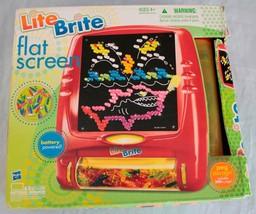 Lite Brite Flat Screen Hasbro w/ 9 Sheets 190 Short Pegs Fun Toy Battery... - $17.42