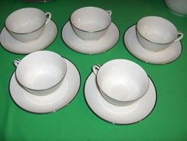 5 Vintage Footed Cup Sets Noritake Ivory-China Montblanc NICE - $64.35
