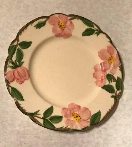 """4 Vintage Franciscan Desert Rose 7 5/8"""" Salad Plate Arch Mark California image 4"""