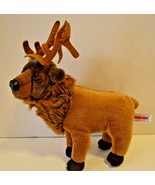 "Aurora Standing Elk Stuffed Plush 13"" Brown Antlers - $16.82"
