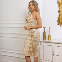 New Runway Arrival Sexy Silver Sequin Sexy Bodycon Summer Party Dress image 2