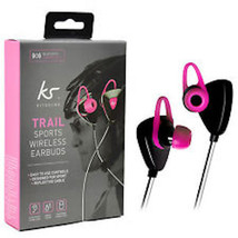 KitSound Trail Sports Bluetooth Wireless Earbuds with Reflective Cable P... - $13.99