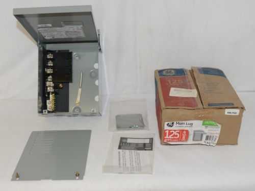 GE TL412R1P Outdoor Main Lug 125 Amps 4 Spaces 8 Circuits Breaker Box
