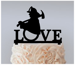 Decorations Birthday Cake topper,Cupcake topper,Fireman love Package : 11 pcs - $20.00