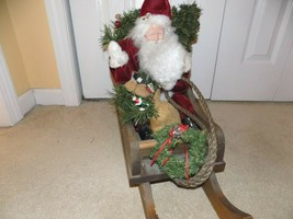1993 Santa in a Sleigh Figure #44/400 Signed by Artist - $173.25