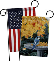 Autumn Birdbath - Impressions Decorative USA - Applique Garden Flags Pac... - $30.97
