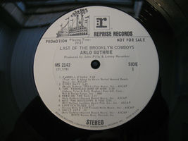 Arlo Guthrie Last Of The Brooklyn Cowboys Reprise MS 2142 Stereo Promo Copy image 5