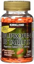 Kirkland Ibuprofen IB Tablets 200mg: 500/1000/1500 Caplets: you pick - $13.85