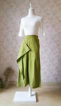 Women Long Wrap Pants Wide Leg Linen Pants Summer Wrap Pants Linen Trousers image 2