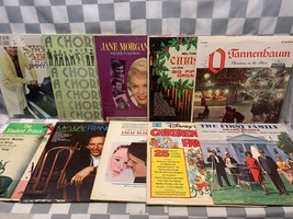 (Lot of 10) LP Record Album Vinyl Christmas Jane Morgan Chorus Line Swag... - £9.81 GBP