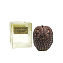 VTG Small Brown OWL Wax Candle | Original New Forest Perfumery Box | UNS... - $7.87
