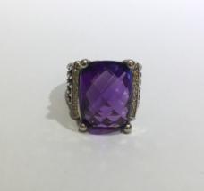 David Yurman Wheaton Ring with Amethyst and Diamonds - $1,080.00