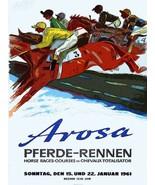 Wall Decor Poster.Interior home.Room design.Arosa horse race.Equine art.... - $9.90+