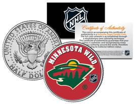 MINNESOTA WILD NHL Hockey JFK Kennedy Half Dollar U.S. Coin * LICENSED * - $8.86