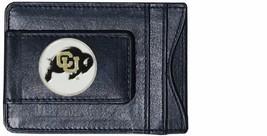 colorado buffaloes logo ncaa college emblem leather cash & cardholder usa made - $27.07