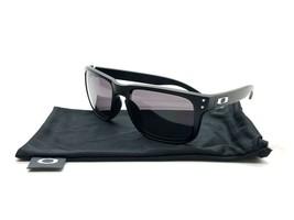 Oakley Holbrook Sunglasses OO9102-01 Matte Black Frame W/ Warm Grey Lens 57MM - $77.57