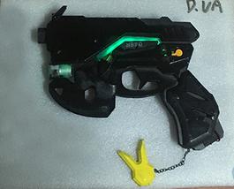 Overwatch D.Va Skin Carbon Fiber Weapon Light Gun Cosplay Replica Prop Buy - $105.00