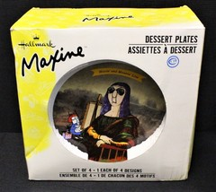 "Set of 4 Hallmark Maxine 7"" Dessert Plates in Box, Microwave & Dishwashe... - $18.00"