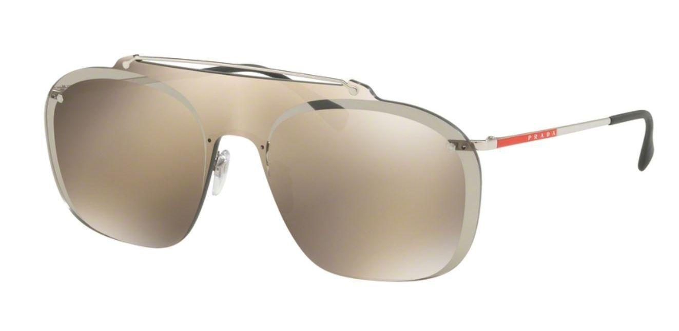 484403a46a04 Prada Linea Rossa Sunglasses SPS51TS 1BC128 37MM Silver Gold Lens -  148.49