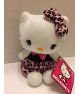 Hello Kitty Plush Toy 9 Pink Black Ruffled Dress Bow Cute Just Play - $6.79