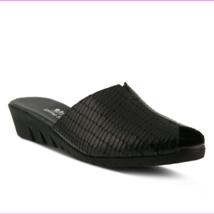 Spring Step Dejen Slide Sandal Black Croco, Size 39 EU / 8.5 US - €41,68 EUR