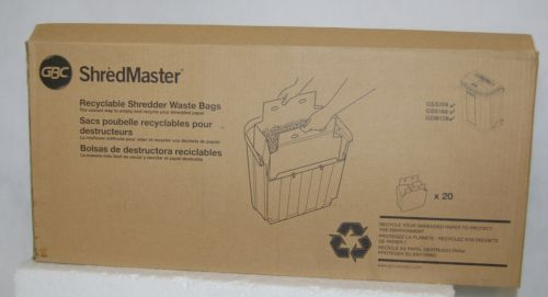 GBC 1765022 Shred Master Recyclable Shredder Waste Bags 20 Count