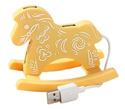 Creative Yellow Cloud USB HUB High-Speed USB 2.0 4-Port USB Hub with 10c... - $17.90