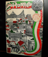 The Puzzle Factory Jigsaw Puzzle 1970 Double Sided Rome Italian Flag Sealed Box - $12.99