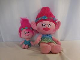 "DreamWorks Trolls Poppy Talkin' 14"" Troll Plush Doll + 24"" Pink Poppy Plush - $17.84"