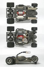 3 Aurora 1981 Blazin Brakes Vintage Lighted Lit Chassis, AFX G+ Style Tested! - $64.34