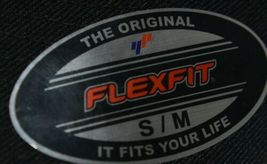 Flexfit Black 6277 Twill Hat S M Permacurv Visor With Silver Undervisor image 7