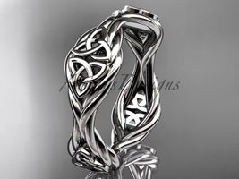 Platinum rope celtic trinity knot wedding band RPCT998G - $995.00
