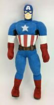 "Large Captain America Marvel Comic Rubber Head Plush Pillow Stuffed 30"" - $62.88"