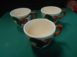 """-Magnificent FRANCISCAN  """"Apple"""" Pattern ..3 COFFEE CUPS - $5.95"""