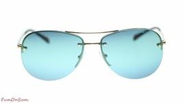 Prada Unisex Pilot Sunglasses PS50RS ZVN5T2 Pale Gold/Blue 59mm Authentic - $154.23