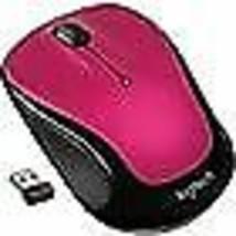 Logitech M325 Optical Wireless Ambidextrous Mouse, Brilliant Rose (910-003121) - $11.08