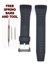 Compatible Seiko Velatura SRH003P1 26mm Black Diver Rubber Watch Strap S... - $20.77