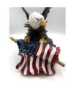 Eagle Flag Illuminated Figurine Statue Unique Patriotic United States of... - $54.98
