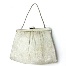 Vintage Ande Metallic Silver Purse Evening Bag Fold-in Clutch Chain  - $18.55