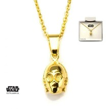 Disney Star Wars Stainless Steel C-3PO 3D Pendant with Chain - $30.45