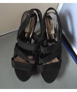 Simply Vera Wang Black Sling Back Strappy High Heel Platform Pumps Size9.5M - $21.78
