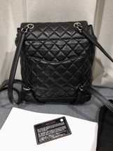 100% AUTHENTIC CHANEL 2017 BLACK QUILTED LAMBSKIN URBAN SPIRIT BACKPACK SHW image 2