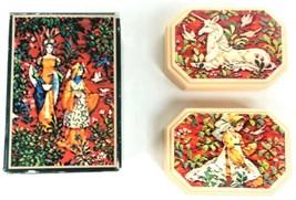 Avon Tapestry 2 Hostess Soaps Festive Fragrance 3 oz Each Unicorn 1981 M... - $27.94