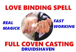 Love Binding Spell, powerful love spell, witchcraft love spell FULL COVEN CAST - $127.97