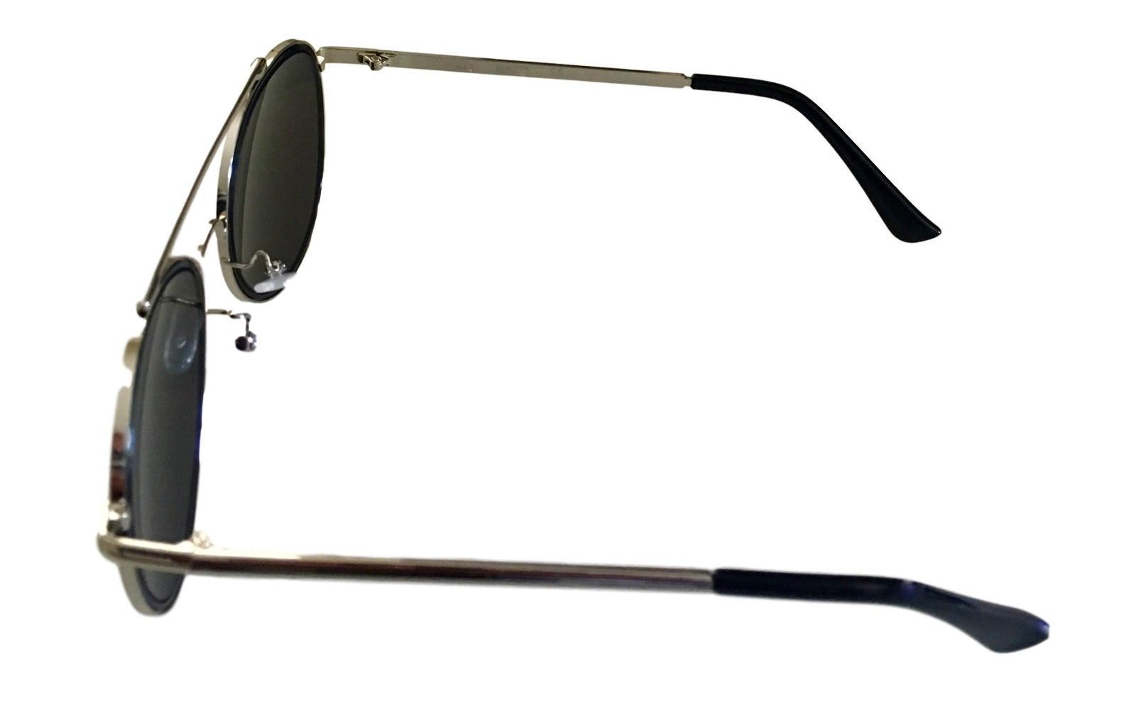 Kenneth Cole Reaction Mens Sunglass Round Silver Metal Blue Flash KC1313 10X image 3