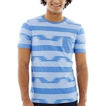 Arizona Printed Stripe Crewneck Tee Size S New With Tags - $11.99