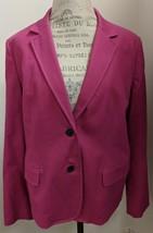 NWT Ann Klein Pink Cotton Blend Blazer Size 16 - $38.61