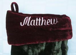 POTTERY BARN MATTHEW Personalized CHRISTMAS STOCKING PLUSH VELVET 23 inc... - $18.99